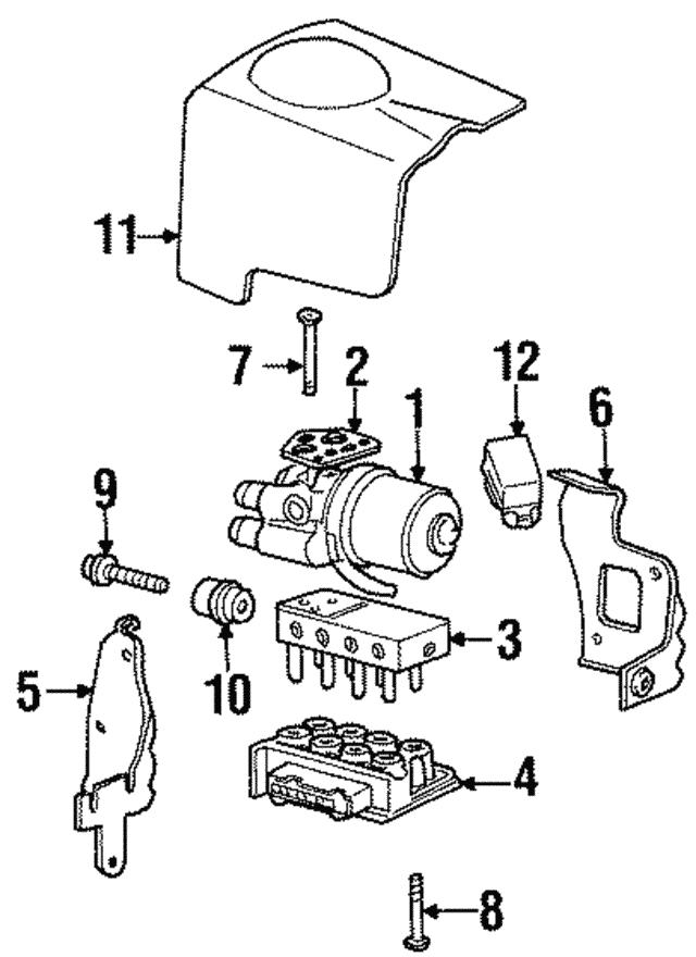 1995 1997 Lincoln Continental Control Module F7oz2c219ba
