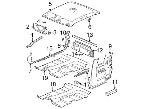 interior trim cab parts for 2003 gmc sierra 2500 hd. Black Bedroom Furniture Sets. Home Design Ideas