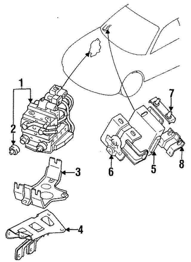Genuine Oem Mount Bracket Insulator Part Mr235657 Fits 1997 2019