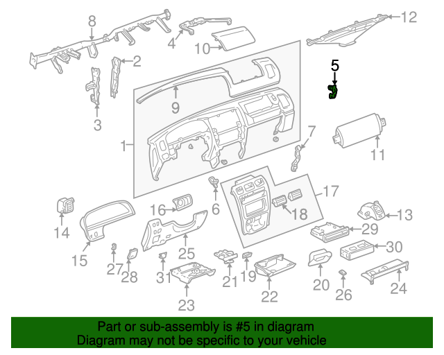 Instrument Panel Side Bracket