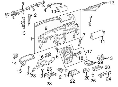 4runner Instrument Panel Diagram