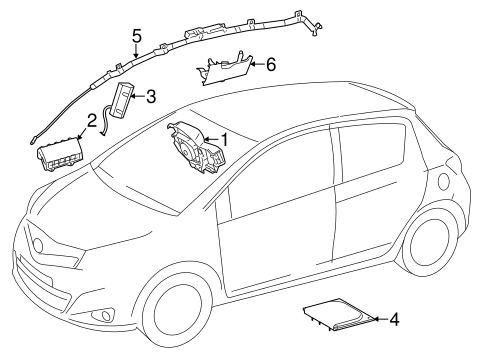 Air Bag Components For 2012 Toyota Yaris