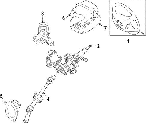 Toyota 45250-08042 Steering Column