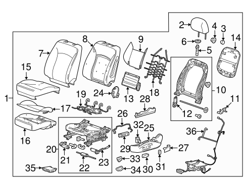 Gm Seat Parts Diagram