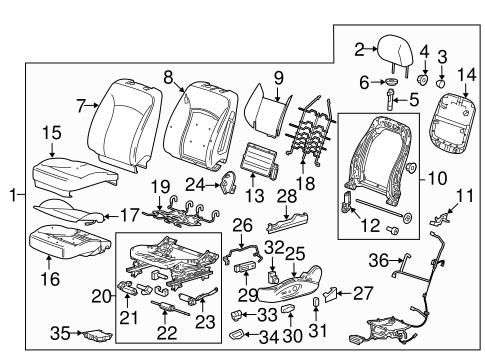oem 2013 chevrolet malibu lumbar control seats parts. Black Bedroom Furniture Sets. Home Design Ideas