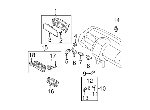Electrical/Headlamp Components for 2010 Ford Edge #1