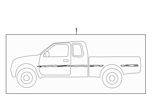 BODY/STRIPE TAPE for 1997 Toyota Tacoma #1