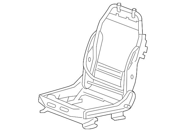 2007 2009 Gm Seat Frame 15908716