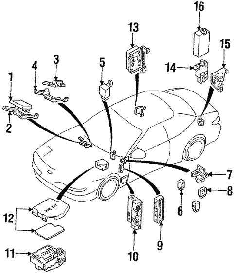 Powertrain Control for 1993 Ford Probe #3