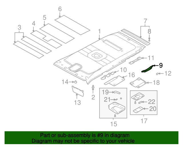 Genuine Hyundai 85390-26000-BU Roof Assist Handle Assembly