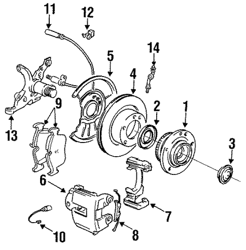 Brake Components for 1994 BMW 325is #0