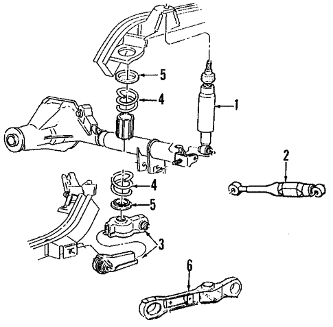 Rear Suspension/Rear Suspension for 2000 Ford Mustang #1