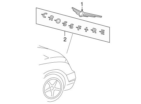Exterior Trim - Lift Gate for 2007 Chrysler Crossfire   Car