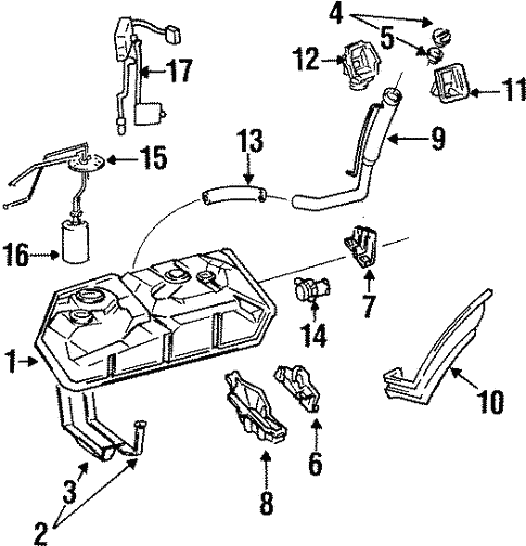 fuel system/fuel system components for 1993 toyota previa