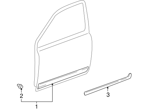 BODY/EXTERIOR TRIM - DOOR for 2001 Toyota Echo #1