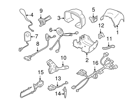 Air Bag Components for 2005 Cadillac DeVille #1