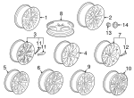 Wheel, Alloy - GM (22783689)
