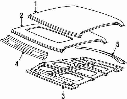 Roof Components For 1996 Cadillac Seville
