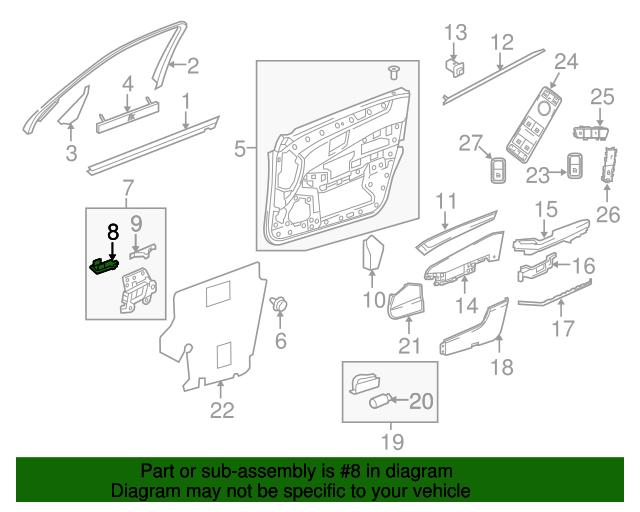 Interior lamp mercedes benz 211 820 12 01 factory oem for Mercedes benz manhattan parts