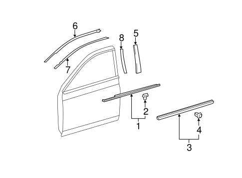 BODY/EXTERIOR TRIM - FRONT DOOR for 2008 Toyota Avalon #1