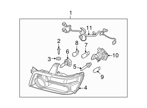New Cars With Led Lights as well Mazda Replacement Parts Catalog together with 2000 Subaru Impreza Fog Lights additionally Hid Headlight Conversion Wiring Diagram likewise Hyundai Santa Fe Jack Location. on honda civic fog light wiring diagram