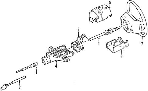 Oem 2003 Ford Explorer Steering Column Parts