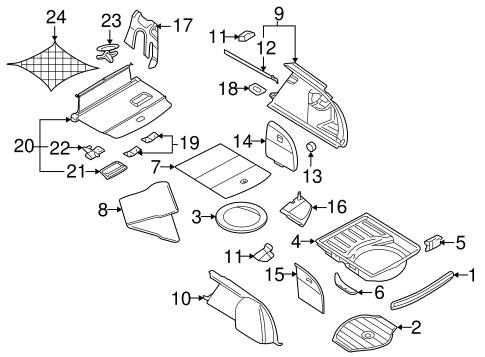Interior Trim - Rear Body for 2004 Audi S4 | Live More Audi