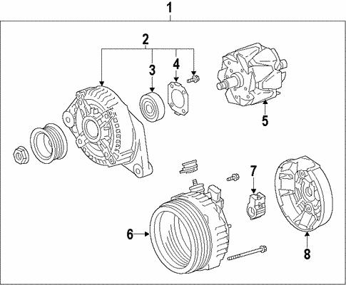 Genuine Oem Alternator Parts For 2008 Scion Xb Base Olathe Toyota. Electricalalternator For 2008 Scion Xb 1. Scion. Scion Xb Alternator Wiring Diagram At Scoala.co