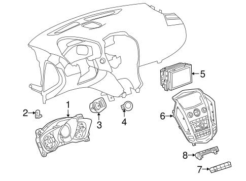 oem 2010 cadillac srx headlamp components parts