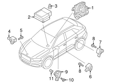 Air Bag Components For 2017 Audi Q3