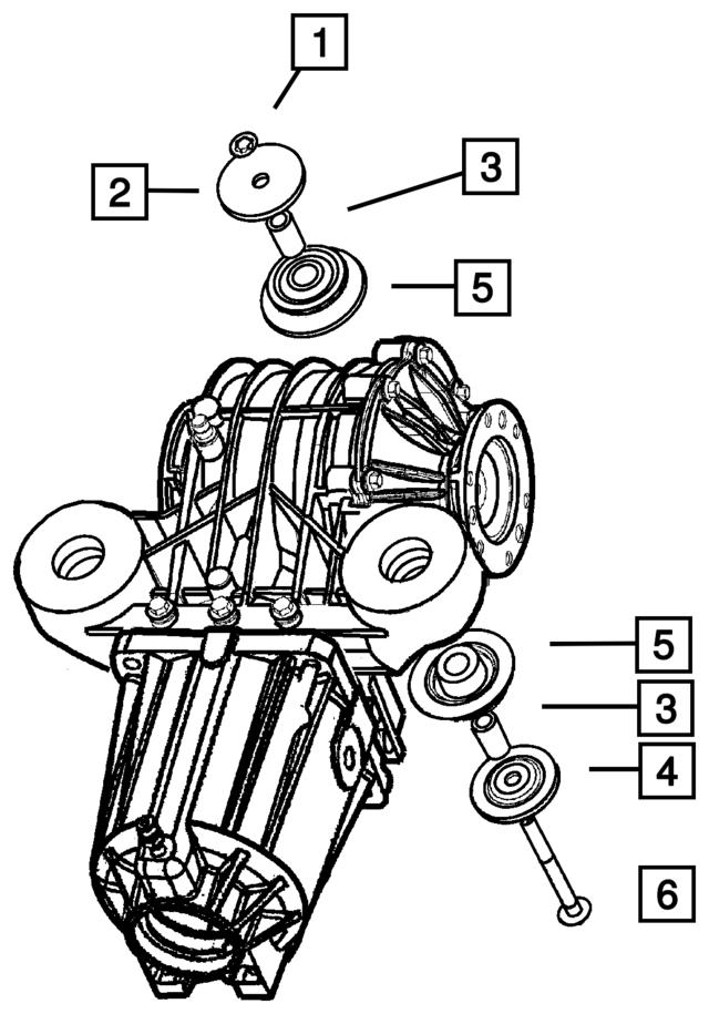 2003 2004 Mopar Isolator Bushing 4486901