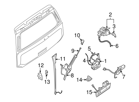497217s001 together with Nissan Hose And Tube Assembly 497217s000 moreover 2006 Nissan Altima Front Bumper Diagram in addition Nissan Brkt Lock Back 90508 Zq10a together with Nissan Mirror Assy Ins 96321 2y900. on 2015 nissan armada sv