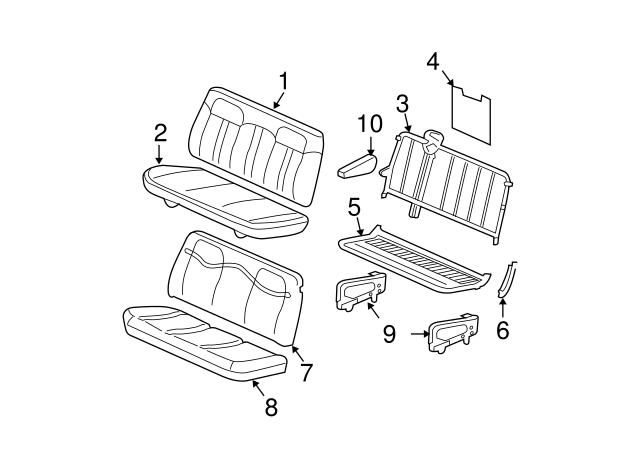 2007 2019 Gm Seat Cushion Pad 19127774