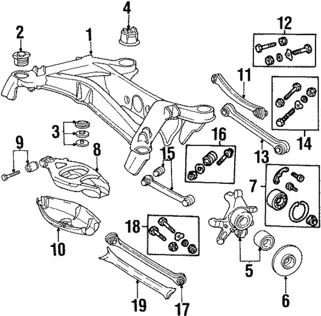 1987 1995 Mercedes Benz Lower Control Arm Bushing Kit 124 350 67 06