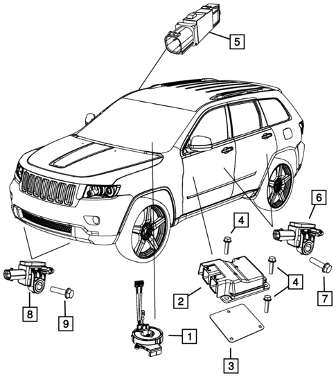 Air Bags For 2015 Jeep Grand Cherokee