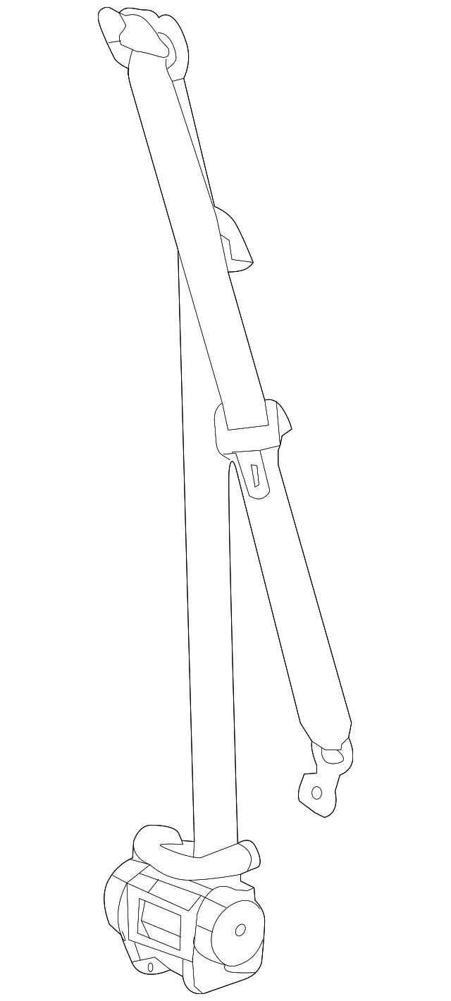 Genuine GM Belt /& Retractor 19356068