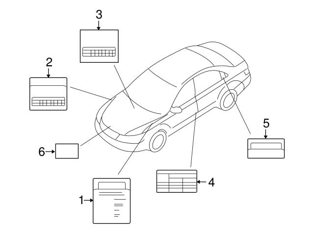 2006 2007 Hyundai Vacuum Diagram 32490 3c000