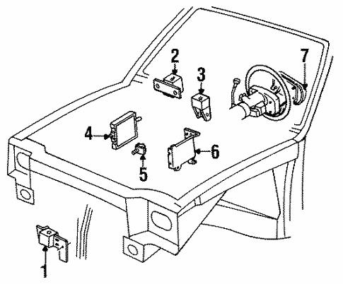 Air Bag Components For 1996 Oldsmobile Cutlass Ciera