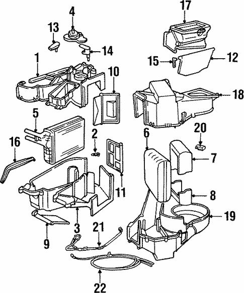 Evaporator Heater Components For 1996 Dodge Neon