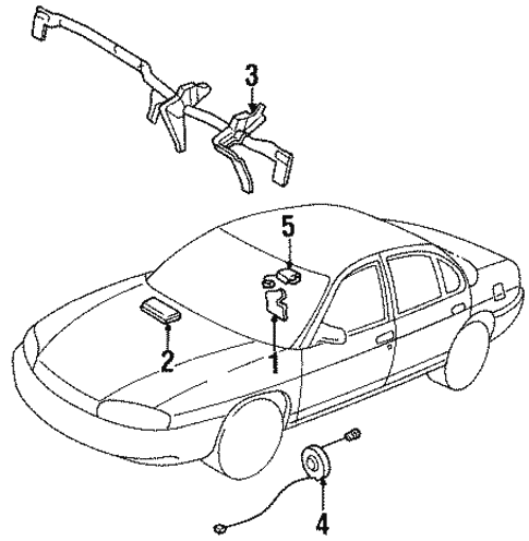 Air Bag Components For 1999 Chevrolet Monte Carlo