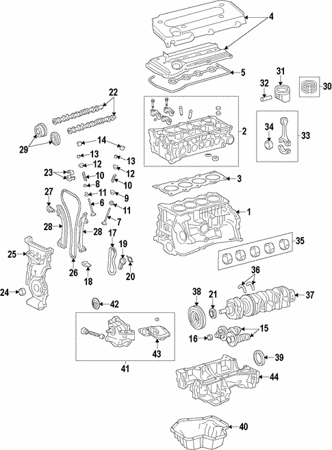 genuine oem engine parts for 2006 scion tc base olathe toyota rh parts olathetoyota com 2008 scion tc engine diagram 2008 scion tc engine diagram