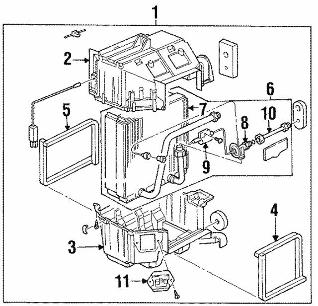 1998 1999 Acura Slx Sedan Evaporator Assembly Air Conditioner 8