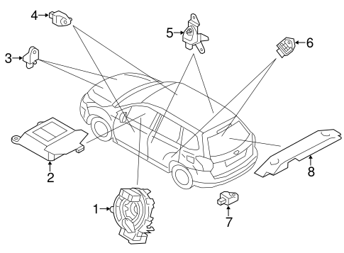 Air Bag Components For 2017 Subaru Forester