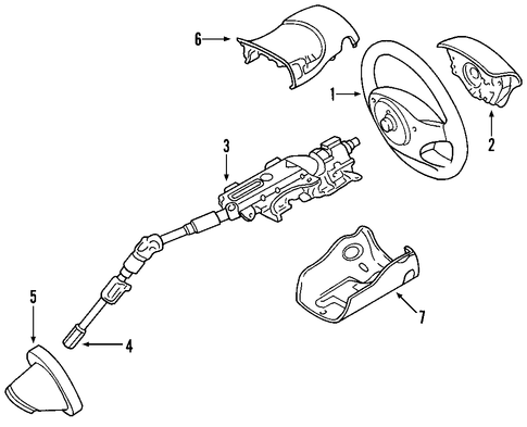 Steering/Steering Column for 2011 Ford Focus #1