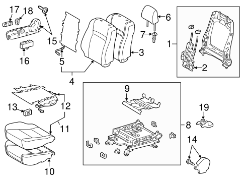 BODY/PASSENGER SEAT COMPONENTS for 2013 Toyota Camry #2