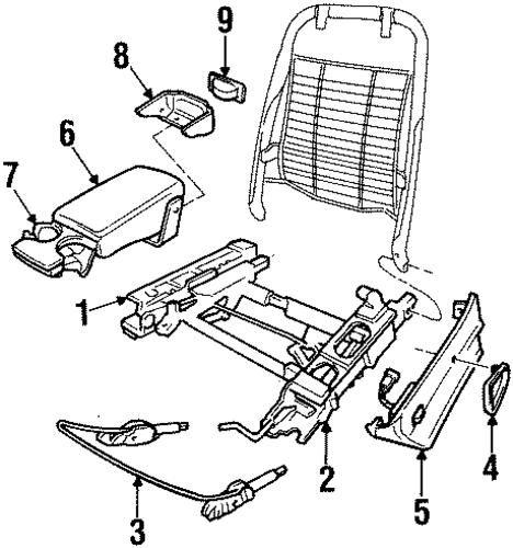 seats  u0026 track components for 2001 pontiac grand prix