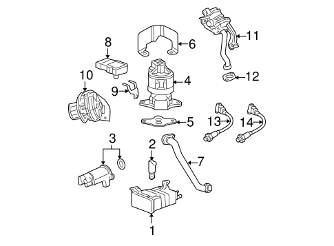 Secondary Air Injection System for 2006 Cadillac DTS #0