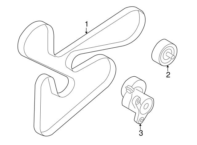 2008 2014 Mitsubishi Serpentine Belt 1340a123 Auto Parts