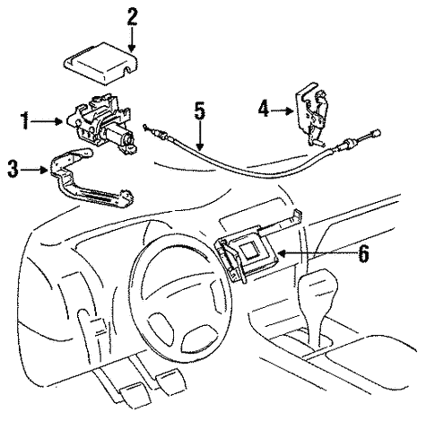 Genuine Oem Cruise Control System Parts For 1993 Toyota Corolla Dx