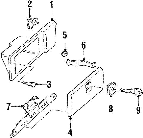 Oem 2001 Oldsmobile Silhouette Glove Box Parts